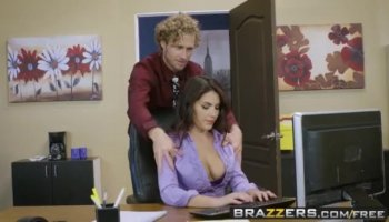 Busty coed Antonia Sainz gives her man a wet massage and titty fuck to lead him into a horny...