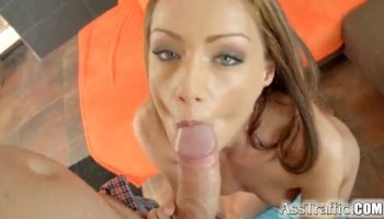 Super hot blonde gets her ass banged hard and rough