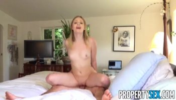Long haired mistress April Blue sucking dick with passion and gets her pussy licked